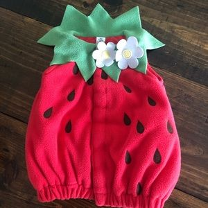 Old Navy Baby Strawberry Costume 0-6 months